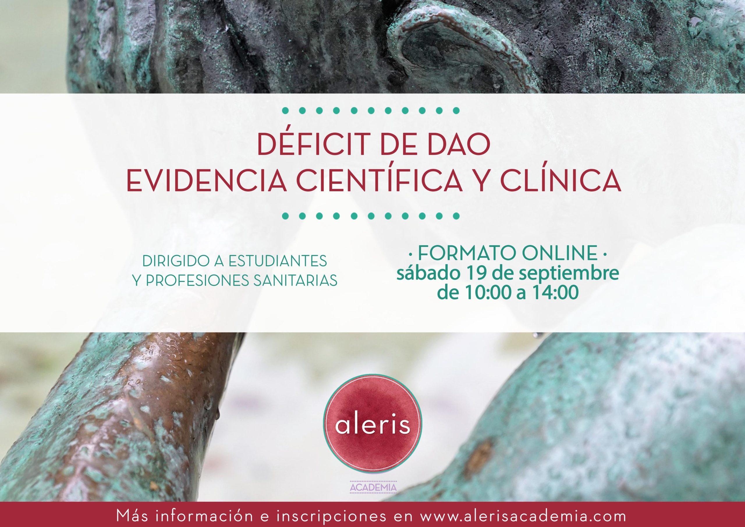 Déficit de DAO: Evidencia científica y clínica
