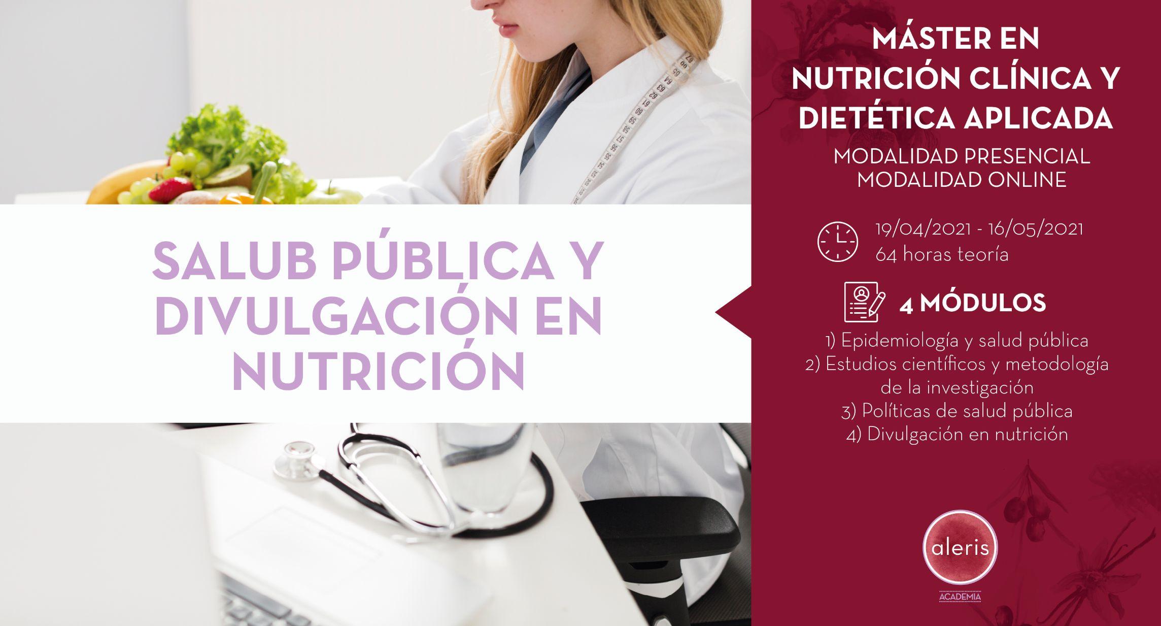 SALUD PÚBLICA Y DIVULGACIÓN EN NUTRICIÓN