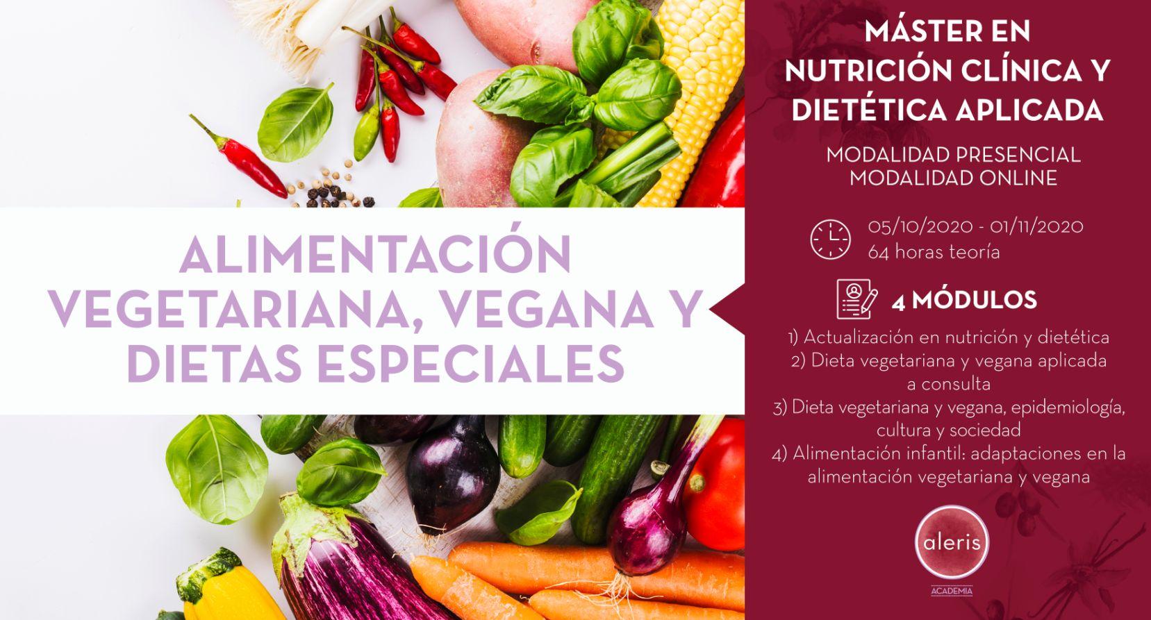 ACTUALIZACIÓN EN NUTRICIÓN Y DIETÉTICA, DIETA VEGETARIANA, VEGANA Y DIETAS ESPECIALES