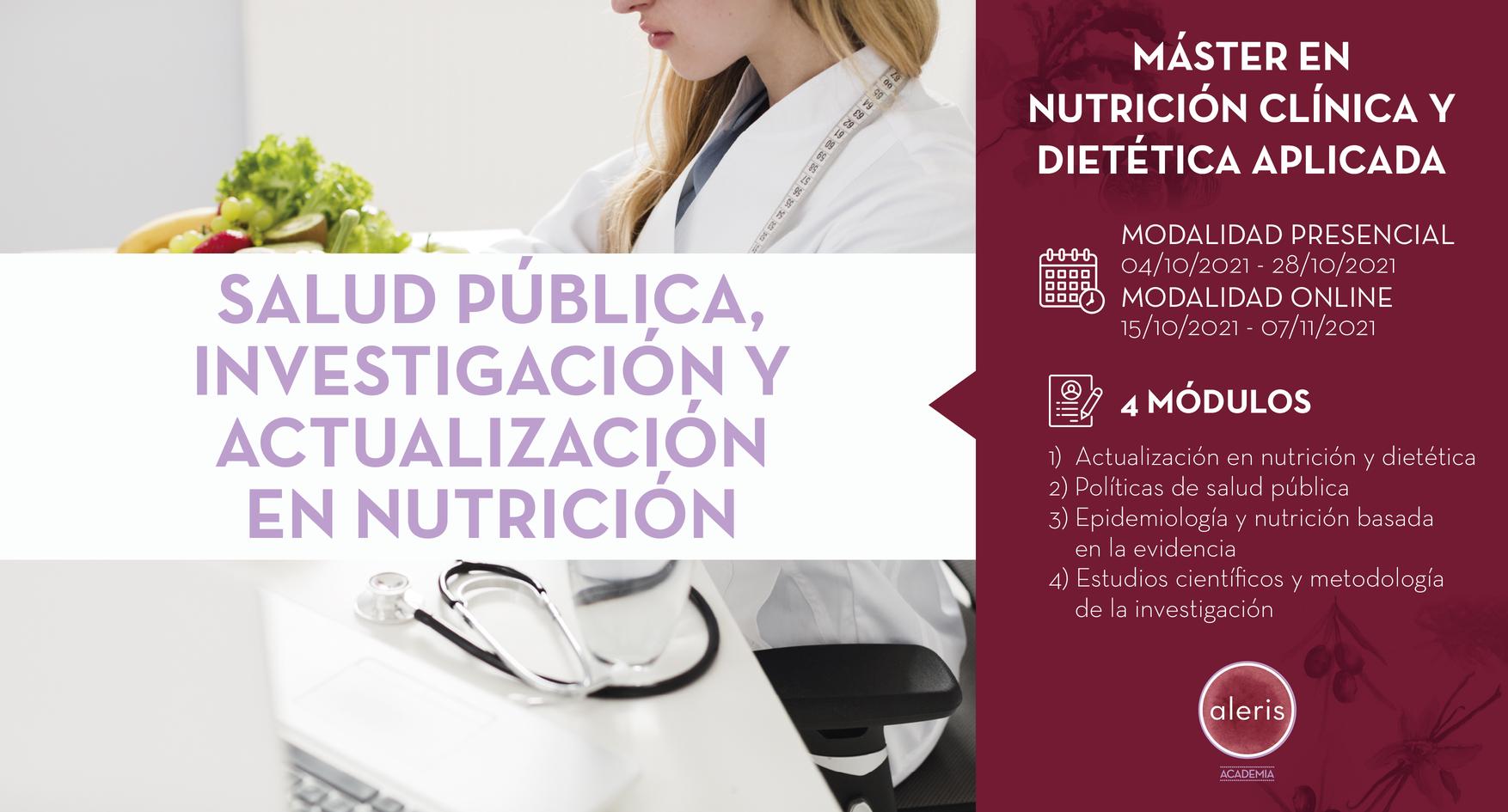 SALUD PÚBLICA, INVESTIGACIÓN Y ACTUALIZACIÓN EN NUTRICIÓN