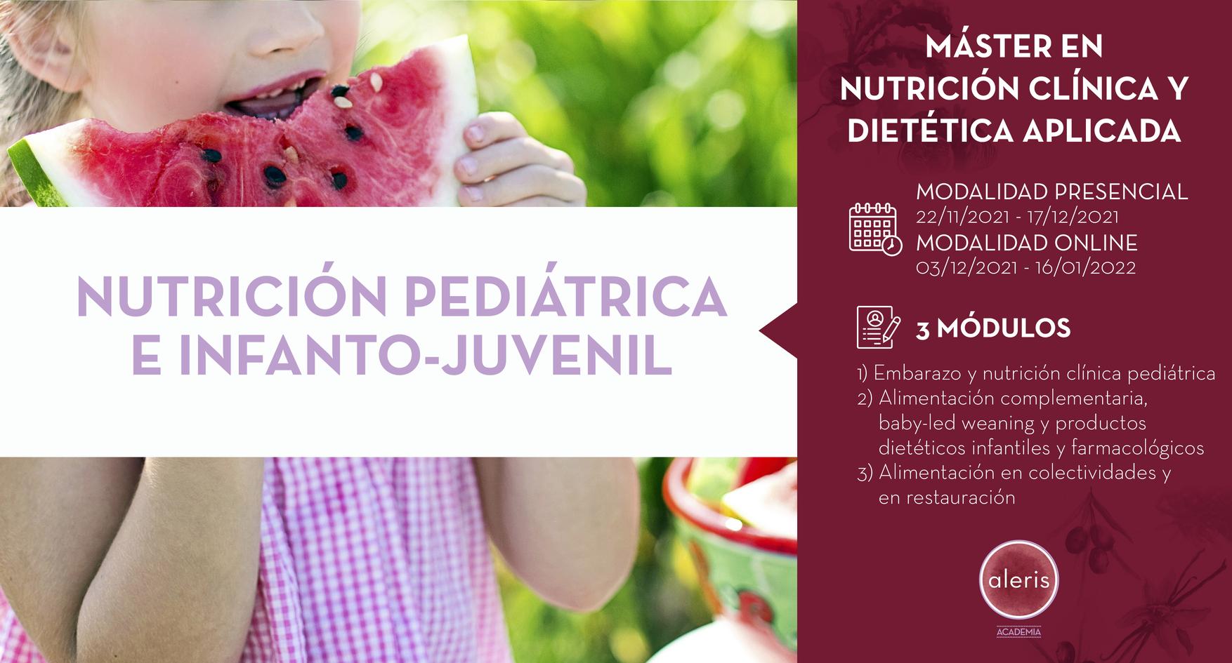 NUTRICIÓN PEDIÁTRICA E INFANTO-JUVENIL