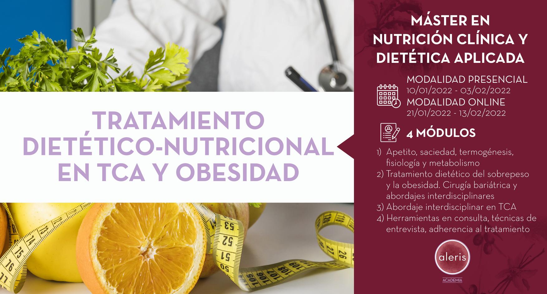 TRATAMIENTO DIETÉTICO-NUTRICIONAL EN TCA Y OBESIDAD