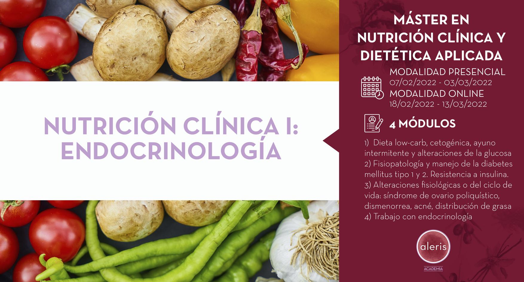 NUTRICIÓN CLÍNICA I: ENDOCRINOLOGÍA