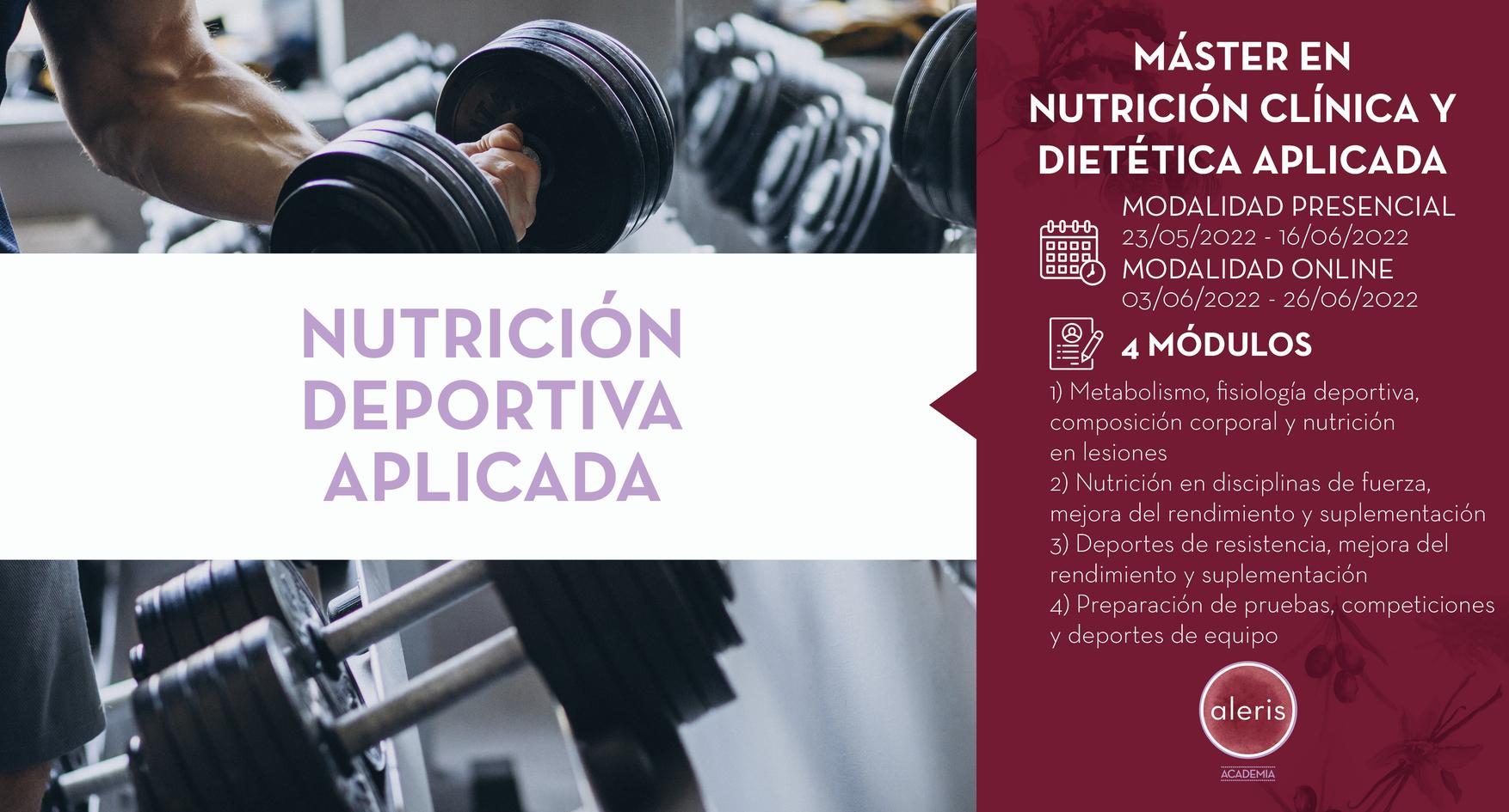 NUTRICIÓN DEPORTIVA APLICADA